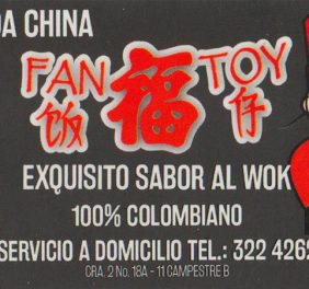 Fan Toy Comida china